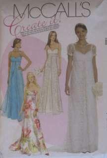 McCalls Misses Dress Pattern M6030~Bridal,Wedding,Bridesmaid,Prom