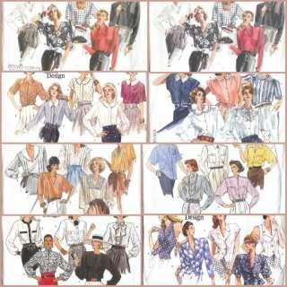 OOP Vogue Basic Design Misses Blouse Sewing Pattern