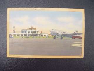 Vintage Unused Berkley Postcard Philadelphia Airport PA