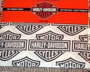 Harley Davidson Flame Rider Sheet Set ~ twin