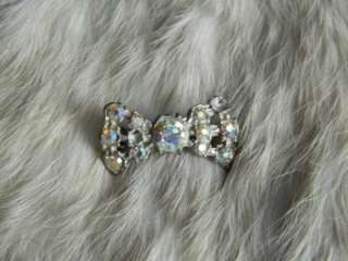 Circa 1940s AB Rhinestone Brooch Pin from an Estate Collection TLC