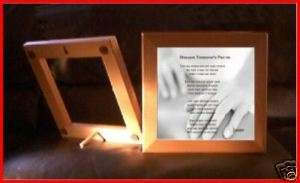 Framed Ceramic Tile Massage Therapists Prayer w/NAME