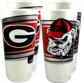 Georgia Bulldogs 24 oz. Souvenir Cups (4 per pkg.)