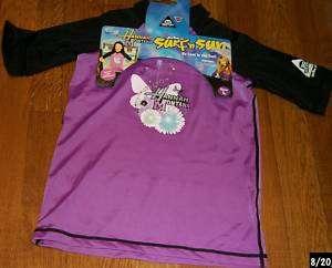 Disney Hannah Montana Purple black swim shirt quick dry