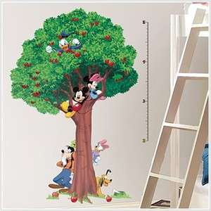 New MICKEY MOUSE GROWTH CHART DECALS Stickers Decor 034878034942