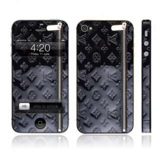 Gloss Black Designer 3M 180C Vinyl Skin Sticker Wrap For Apple iPhone