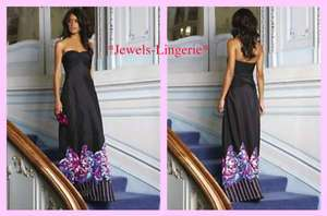 BNWT TEATRO BLACK BUTTERFLY PRINT MAXI EVENING DRESS UK SIZE 14
