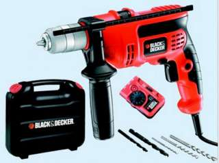 TRAPANO BLACK & DECKER CD 714 CRESKD PERCUSS. + METAL DETECTOR VALIG