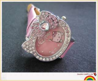 HelloKitty Girl Ladies Crystal Stone Quartz Sport Wrist Watch A20