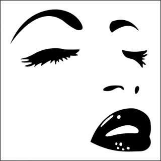 Vinyl Wall Art Giant Sexy Eyes Face & Lips Mural Sticker