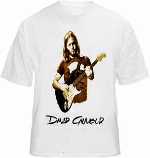 Dave Gilmour David T shirt Live Fender Guitar Floyd