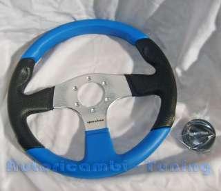 VOLANTE SPORTIVO SPORTLINE NERO BLU FIAT 500 & 126