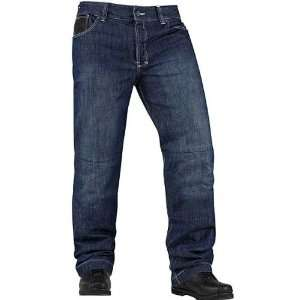 Icon Strongarm 2 Enforcer Mens Denim On Road Motorcycle Pants   Blue