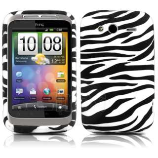 Magic Store   Black Zebra Gel Case Cover For HTC Wildfire S + Film