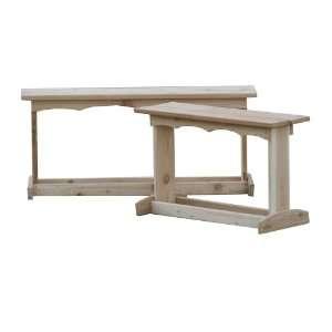 Eureka Woodworks Utility Bench   4 Feet   Light wood