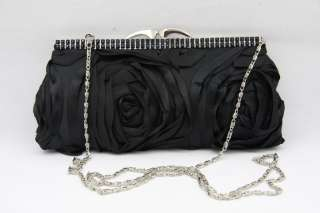 NEW LADIES SATIN EVENING WEDDING PROM PARTY CLUTCH BAG