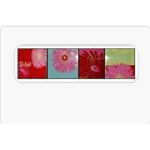 Relax & Refresh Glass Coaster Set, in Magenta Pink (4/pkg) with Wood