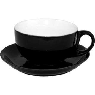 Olympia Cappuccino Cup Black Crockery Hotel Bistro Bar