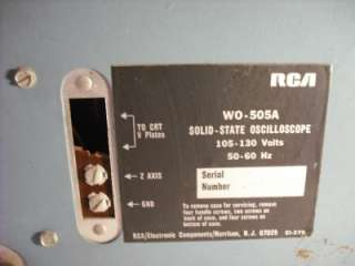 RCA WO 505A Solid State Oscilloscope WO505A Scope