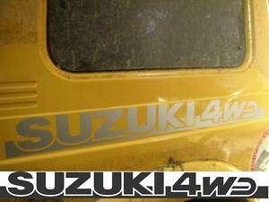 Adesivi 2 decals Suzuki 4WD Santana Samurai Vitara NERO