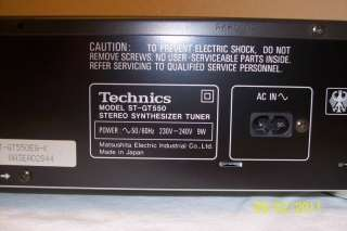 Technics Tuner ST GT 550 RDS in Aachen   Aachen Richterich  Audio