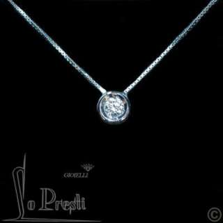 COLLANA CON CON DIAMANTE BRILLANTE CT 0,20 PUNTO LUCE