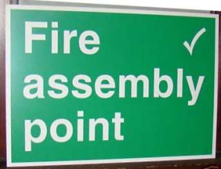 FIRE ASSEMBLY POINT SIGN 500x350mm HEALTH SAFETY SIGN T