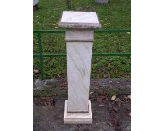 Colonna in legno laccata finto marmo porta fiori, porta lampada ecc.