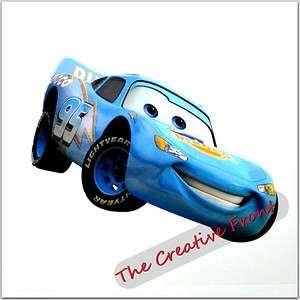 BLUE DINOCO LIGHTNING MCQUEEN CARS   IRON ON T SHIRT HEAT TRANSFER