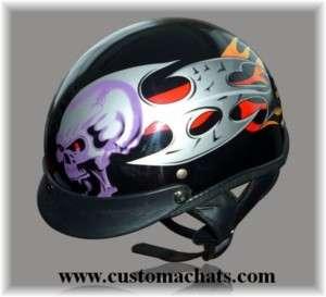 Casque Jet Bol Biker Skull moto custom Harley trike helmet motorcycle