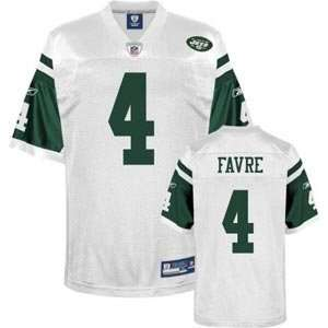 Brett Favre New York Jets White Reebok Premier Jersey