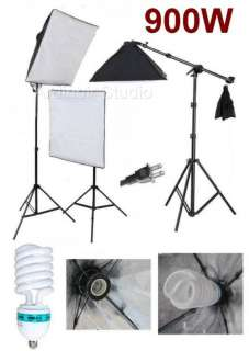 Photography Soft box Continuous Lighting Stand Kit Set