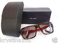PRADA RED BLACK SPR 61L 180 1A1 SUNGLASSES 61lL UNISEX SUNGLASSES
