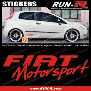Pegatina FIAT MOTORSPORT rojo – FI12R