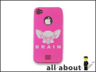 Pinky and the Brain Cartoon Logo For i Phone 4 / 4S Metal Alumor Case