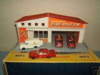 MATCHBOX LESNEY NO.MF1a FIRE STATION RED ROOF VN MIB