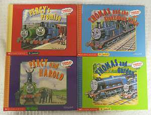 of 8 Stories THOMAS THE TRAIN TANK ENGINE 4 Books Scholastic HC PERCY