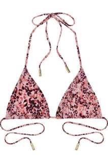 Diane von Furstenberg Leopard print halterneck bikini top   60% Off