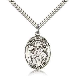 Genuine IceCarats Designer Jewelry Gift Sterling Silver St. Januarius