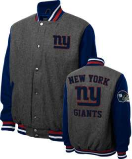 New York Giants Grey Wool Varsity Jacket