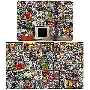 Marvel Comic Book Chair Rail Mural