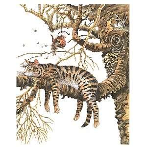 Cat In Tree Rubber Stamp   Cat In Tree