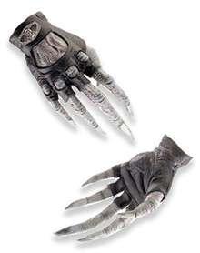 Hellrider gloves feature frightening skeletal hands with black biker