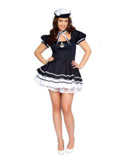 Sexy Sailor Sweetie Adult Plus Costume  Military Halloween Costumes