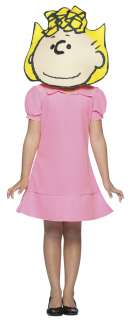 Girls Deluxe Peanuts Sally Costume   Peanuts Costumes