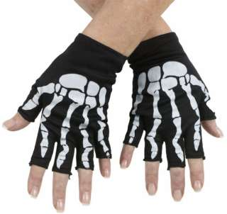 Fingerless Skeleton Gloves   Accessories & Makeup