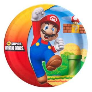 Halloween Costumes Super Mario Bros. Dinner Plates (8 count)