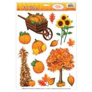Halloween Costumes Harvest Window Clings (1 sheet)