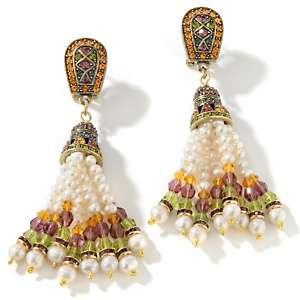Heidi Daus Tasseled Up Crystal Accented Tassel Earrings