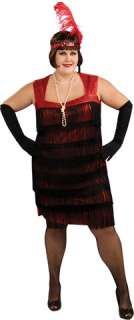 Bring back the Roaring 20s! Sassy, red, flapper dress with swingy